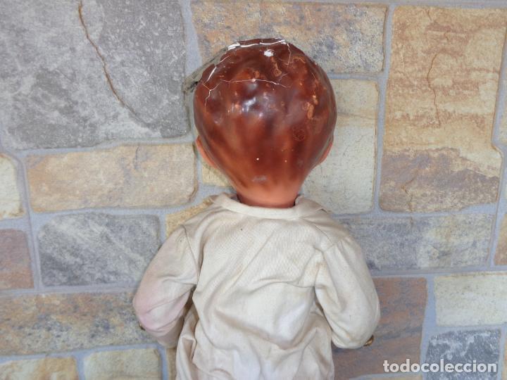 Muñeca española clasica: ANTIGUA MUÑECA DE CARTON PIEDRA AÑOS 40/50, PARA PIEZAS O RESTAURAR VER FOTOS Y DESCRIPCION! SM - Foto 35 - 144802638