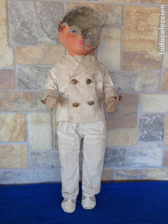 Muñeca española clasica: ANTIGUA MUÑECA DE CARTON PIEDRA AÑOS 40/50, PARA PIEZAS O RESTAURAR VER FOTOS Y DESCRIPCION! SM - Foto 36 - 144802638