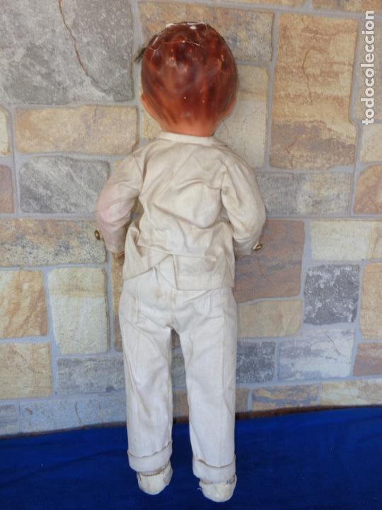 Muñeca española clasica: ANTIGUA MUÑECA DE CARTON PIEDRA AÑOS 40/50, PARA PIEZAS O RESTAURAR VER FOTOS Y DESCRIPCION! SM - Foto 38 - 144802638