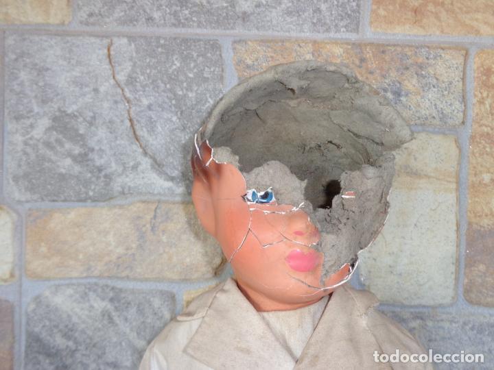 Muñeca española clasica: ANTIGUA MUÑECA DE CARTON PIEDRA AÑOS 40/50, PARA PIEZAS O RESTAURAR VER FOTOS Y DESCRIPCION! SM - Foto 39 - 144802638