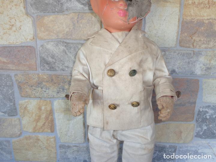 Muñeca española clasica: ANTIGUA MUÑECA DE CARTON PIEDRA AÑOS 40/50, PARA PIEZAS O RESTAURAR VER FOTOS Y DESCRIPCION! SM - Foto 40 - 144802638