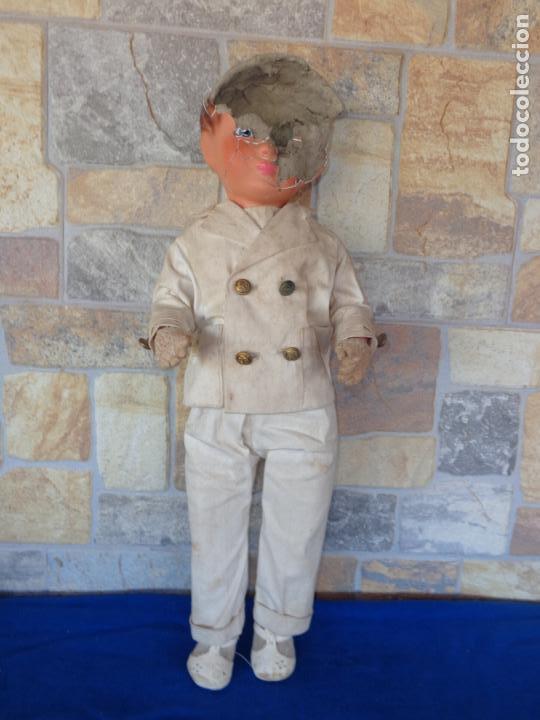 Muñeca española clasica: ANTIGUA MUÑECA DE CARTON PIEDRA AÑOS 40/50, PARA PIEZAS O RESTAURAR VER FOTOS Y DESCRIPCION! SM - Foto 41 - 144802638