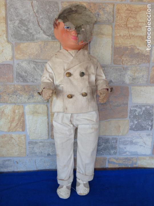 Muñeca española clasica: ANTIGUA MUÑECA DE CARTON PIEDRA AÑOS 40/50, PARA PIEZAS O RESTAURAR VER FOTOS Y DESCRIPCION! SM - Foto 42 - 144802638