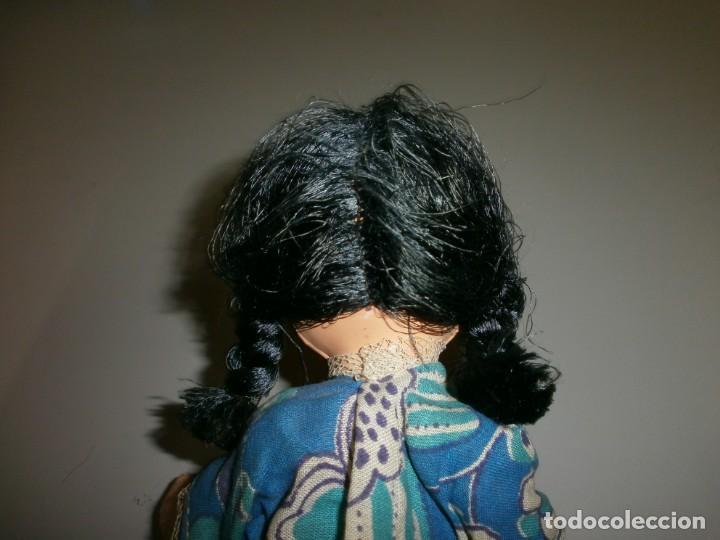 Muñeca española clasica: antigua muñeca a identificar cabeza celuloide o plastico duro cuerpo de trapo mide 32 cms - Foto 5 - 145182618