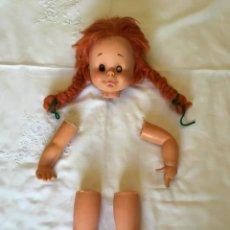 Muñeca española clasica: MUÑECA CIELIN GOMA AÑOS 60 ANTIGUA PELIROJA. Lote 145660914