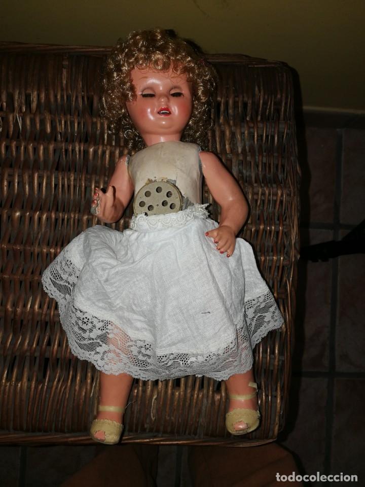 Muñeca española clasica: MUÑECA CARTON PIEDRA O CELULOIDE MUY ANTIGUA,OJOS DORMILONES Y MECANISMO DE LLORO, 40 CM.. - Foto 4 - 87592848