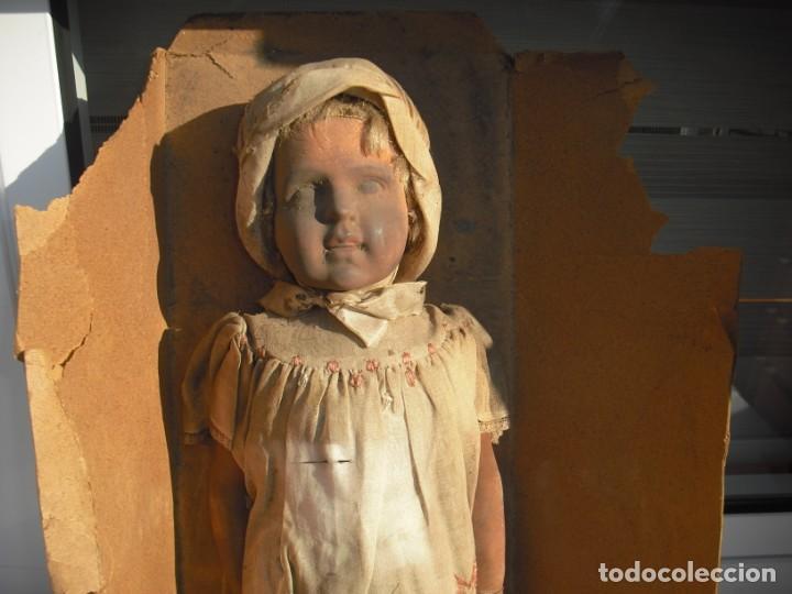 Muñeca española clasica: Salida hoy de un antiguo almacen allì ha estado desde los años 40,,jamàs tocada,totalmente original, - Foto 3 - 147185610