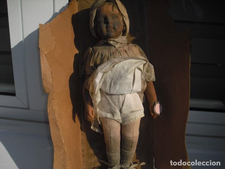 Muñeca española clasica: Salida hoy de un antiguo almacen allì ha estado desde los años 40,,jamàs tocada,totalmente original, - Foto 5 - 147185610