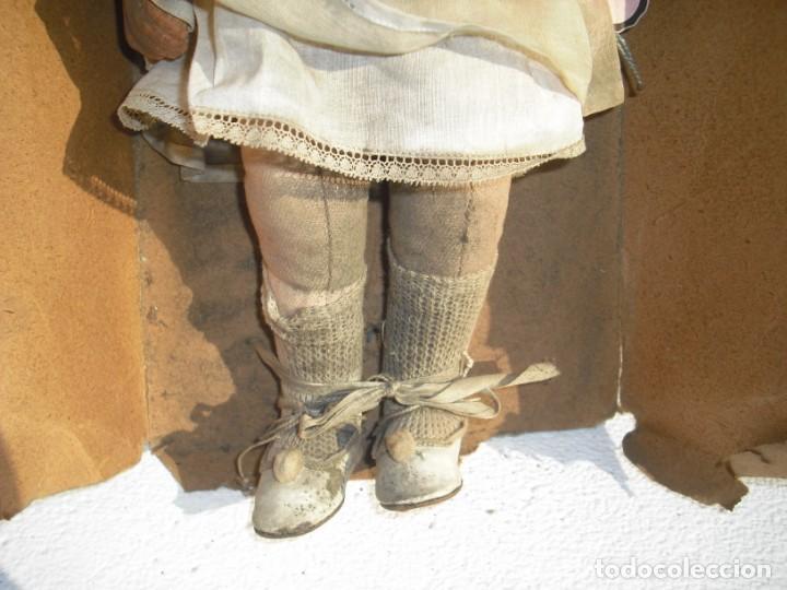 Muñeca española clasica: Salida hoy de un antiguo almacen allì ha estado desde los años 40,,jamàs tocada,totalmente original, - Foto 6 - 147185610