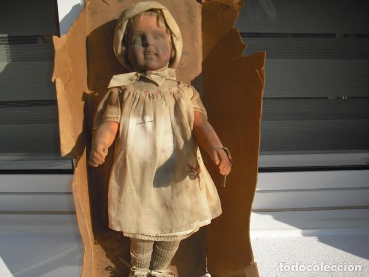Muñeca española clasica: Salida hoy de un antiguo almacen allì ha estado desde los años 40,,jamàs tocada,totalmente original, - Foto 9 - 147185610