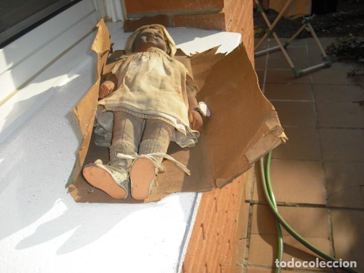Muñeca española clasica: Salida hoy de un antiguo almacen allì ha estado desde los años 40,,jamàs tocada,totalmente original, - Foto 10 - 147185610