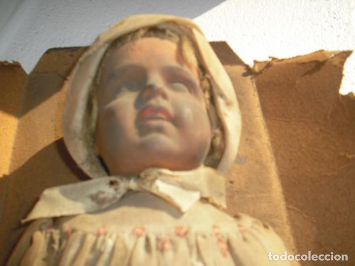 Muñeca española clasica: Salida hoy de un antiguo almacen allì ha estado desde los años 40,,jamàs tocada,totalmente original, - Foto 11 - 147185610