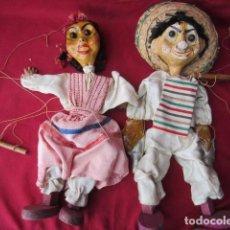 Muñeca española clasica: PAREJA MARIONETAS DE CARTÓN PIEDRA. Lote 147231182
