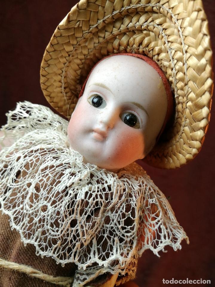 Klassische spanische Puppen: Pequeña muñeca cabeza de biscuit ojos de cristal -y papel mache -19 cm - Foto 23 - 147449174