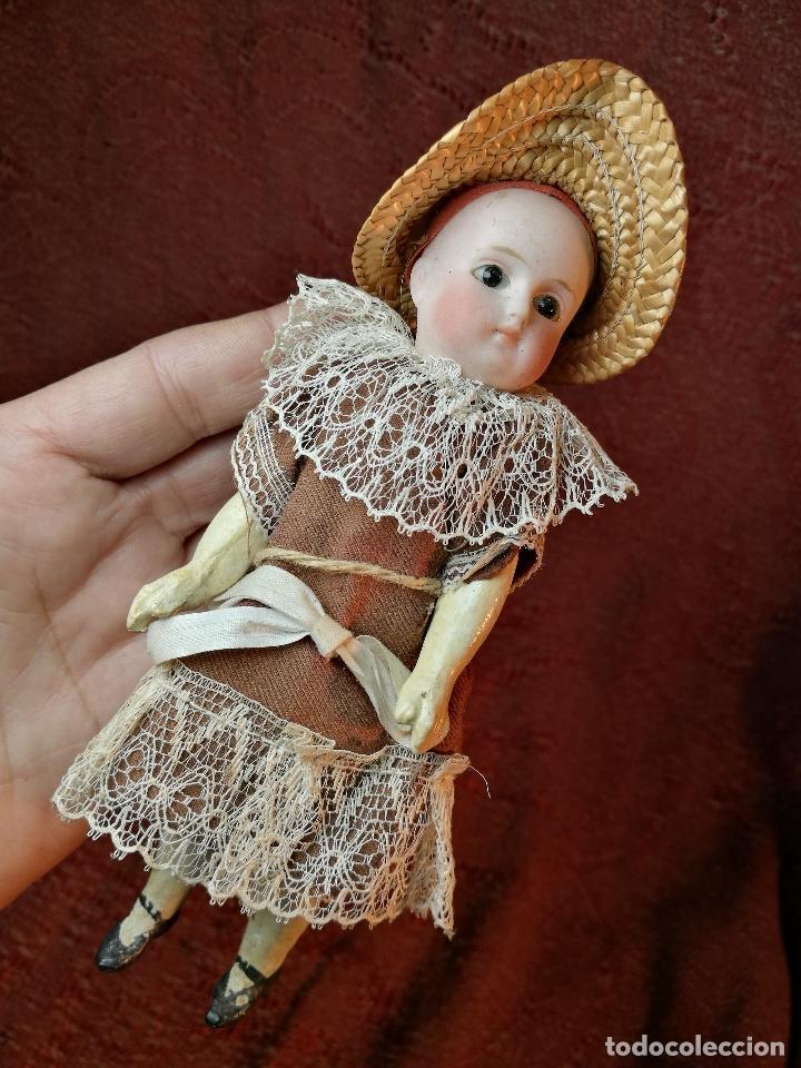 Klassische spanische Puppen: Pequeña muñeca cabeza de biscuit ojos de cristal -y papel mache -19 cm - Foto 25 - 147449174