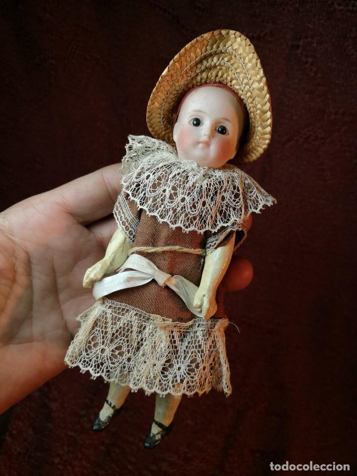 Klassische spanische Puppen: Pequeña muñeca cabeza de biscuit ojos de cristal -y papel mache -19 cm - Foto 4 - 147449174