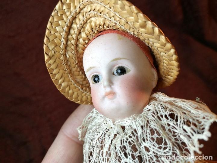 Klassische spanische Puppen: Pequeña muñeca cabeza de biscuit ojos de cristal -y papel mache -19 cm - Foto 18 - 147449174