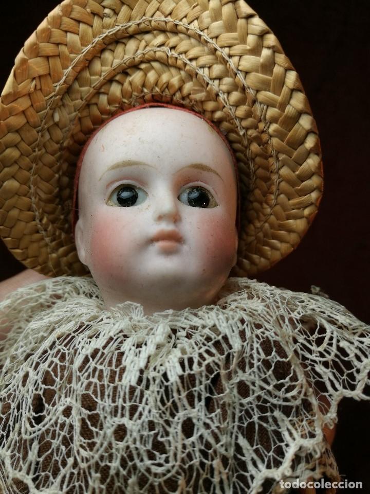 Klassische spanische Puppen: Pequeña muñeca cabeza de biscuit ojos de cristal -y papel mache -19 cm - Foto 19 - 147449174