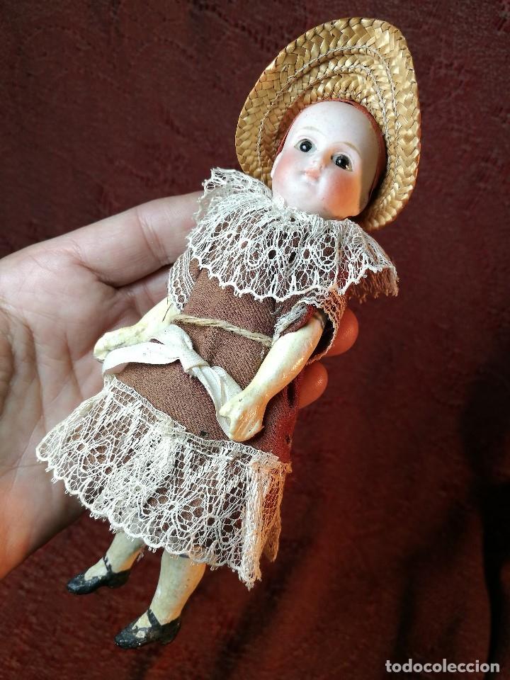 Klassische spanische Puppen: Pequeña muñeca cabeza de biscuit ojos de cristal -y papel mache -19 cm - Foto 21 - 147449174