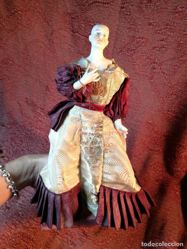 Klassische spanische Puppen: muñeca maniqui porcelana vestidera otros materiales--siglo XIX- 30 CM - Foto 3 - 147450534