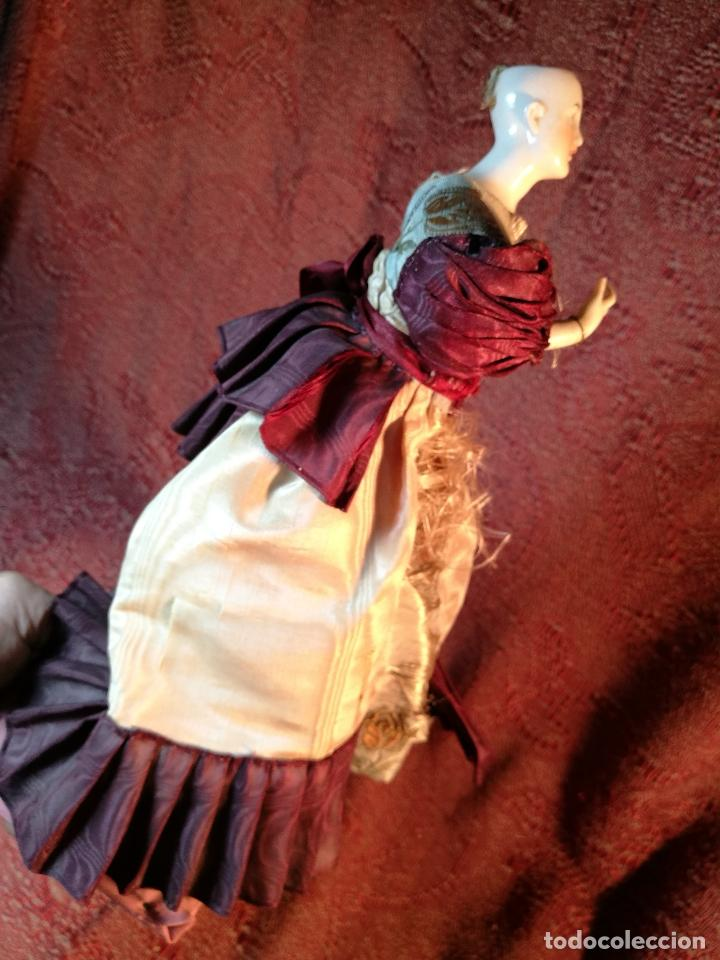 Klassische spanische Puppen: muñeca maniqui porcelana vestidera otros materiales--siglo XIX- 30 CM - Foto 4 - 147450534