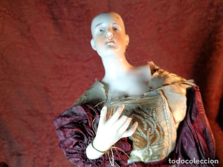 Klassische spanische Puppen: muñeca maniqui porcelana vestidera otros materiales--siglo XIX- 30 CM - Foto 18 - 147450534