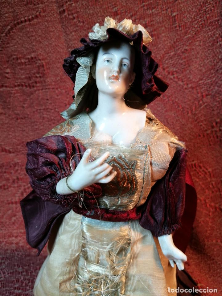 Klassische spanische Puppen: muñeca maniqui porcelana vestidera otros materiales--siglo XIX- 30 CM - Foto 27 - 147450534