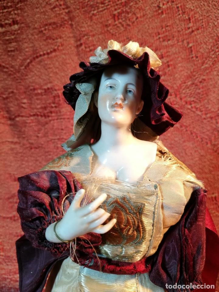 Klassische spanische Puppen: muñeca maniqui porcelana vestidera otros materiales--siglo XIX- 30 CM - Foto 30 - 147450534