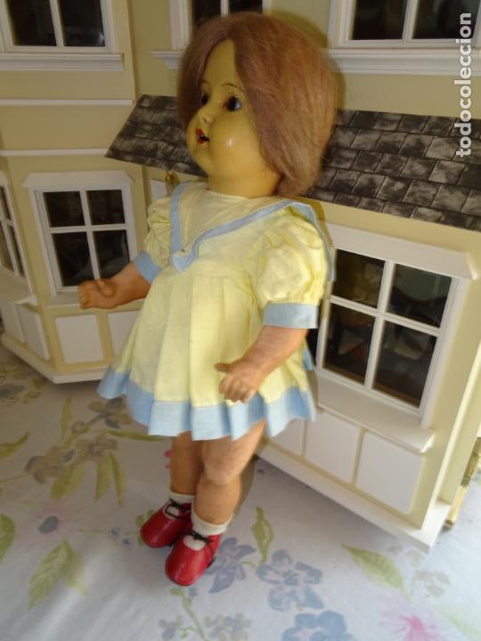 Muñeca española clasica: ANTIGUA MUÑECA AÑOS 50 EN CARTÓN PIEDRA - Foto 4 - 147476862