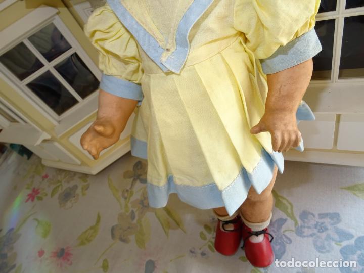 Muñeca española clasica: ANTIGUA MUÑECA AÑOS 50 EN CARTÓN PIEDRA - Foto 7 - 147476862