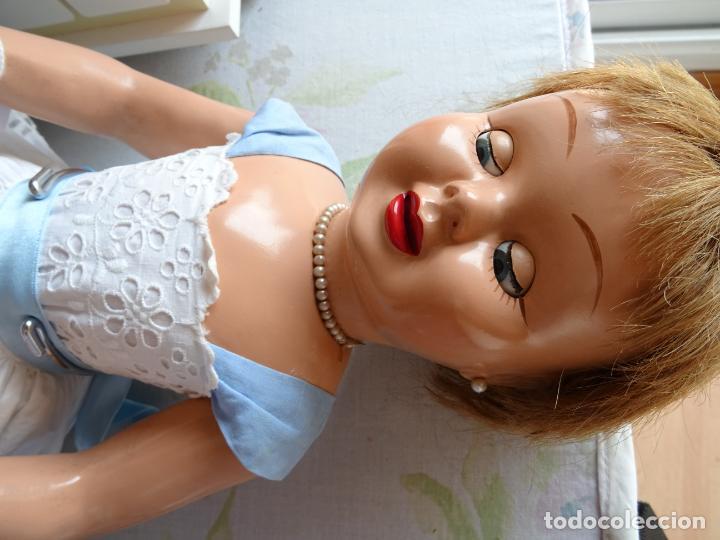 Muñeca española clasica: ANTIGUA MUÑECA TERESIN DE DURÁ AÑOS 50 EN CARTÓN PIEDRA - Foto 11 - 147477406