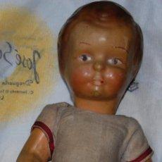 Muñeca española clasica: MUÑECA MUÑECO DE CARTÓN PIEDRA AÑOS 40 . Lote 147658002