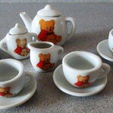 Muñeca española clasica: JUEGO DE 13 PIEZAS DE CAFE DE CERAMICA. Lote 147845778