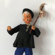 Muñeca española clasica: MUÑECO DE FIELTRO Y TELA Y ALAMBRE AÑOS 60 - DE ROLDAN?. Lote 147858464