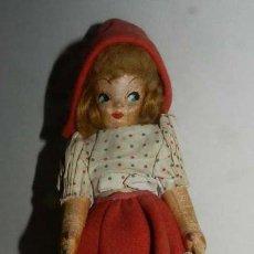 Muñeca española clasica: MUÑECA, REALIZADA EN LIENZO RELLENO. OJOS Y BOCA DECORADOS, CABELLO DE MOHAIR- ROPA DE ORIGEN.. Lote 147938886