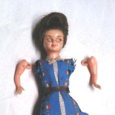 Muñeca española clasica - Muñeca ojos durmientes años 50, articulado, plástico. Med. 12 cm - 149414930