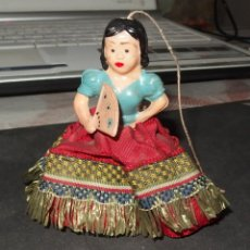 Muñeca española clasica: PEQUEÑA MUÑECA DE CELULOIDE,ESPAÑOLA,CON MECANISMO,FINALES AÑOS 50. Lote 149856326