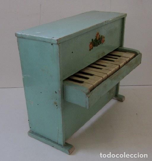 PIANO DE MADERA PARA MUÑECA (Juguetes - Reproducciones Vestidos y Accesorios Muñeca Española Clásica)