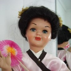 Muñeca española clasica: ANTIGUA MUÑECA ESPAÑOLA TERESIN, VESTIDA DE JAPONESA, CON KIMONO, AÑOS 40. PRIMERA ÉPOCA. Lote 150355306