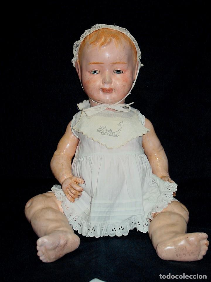Klassische spanische Puppen: GRAN PEPON DE CARTON PIEDRA CATALÁN O VALENCIANO CON BABERO, GORRO, FALDÓN Y PANTALÓN. PPIO 1900 - Foto 2 - 150443726