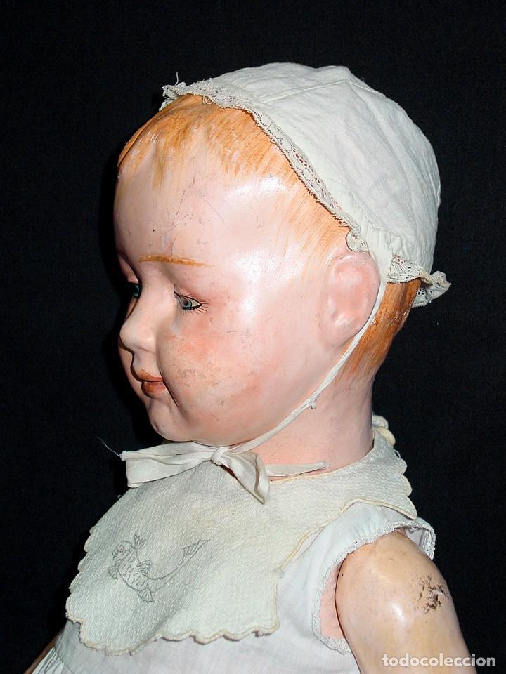 Klassische spanische Puppen: GRAN PEPON DE CARTON PIEDRA CATALÁN O VALENCIANO CON BABERO, GORRO, FALDÓN Y PANTALÓN. PPIO 1900 - Foto 4 - 150443726