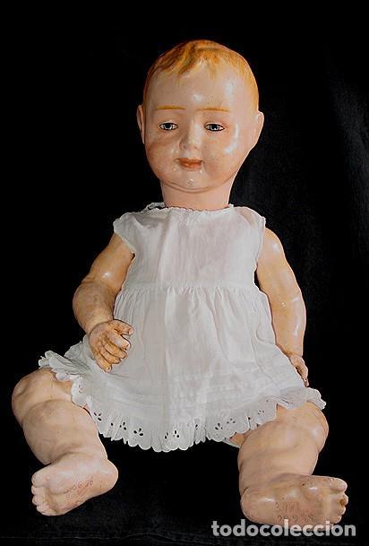 Klassische spanische Puppen: GRAN PEPON DE CARTON PIEDRA CATALÁN O VALENCIANO CON BABERO, GORRO, FALDÓN Y PANTALÓN. PPIO 1900 - Foto 6 - 150443726