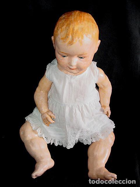 Klassische spanische Puppen: GRAN PEPON DE CARTON PIEDRA CATALÁN O VALENCIANO CON BABERO, GORRO, FALDÓN Y PANTALÓN. PPIO 1900 - Foto 8 - 150443726