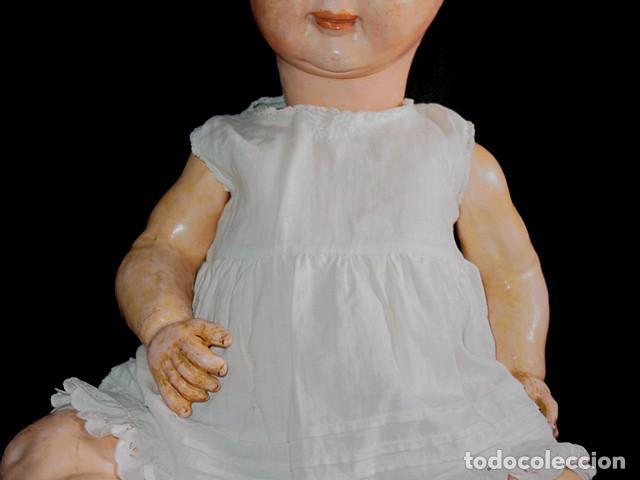 Klassische spanische Puppen: GRAN PEPON DE CARTON PIEDRA CATALÁN O VALENCIANO CON BABERO, GORRO, FALDÓN Y PANTALÓN. PPIO 1900 - Foto 10 - 150443726