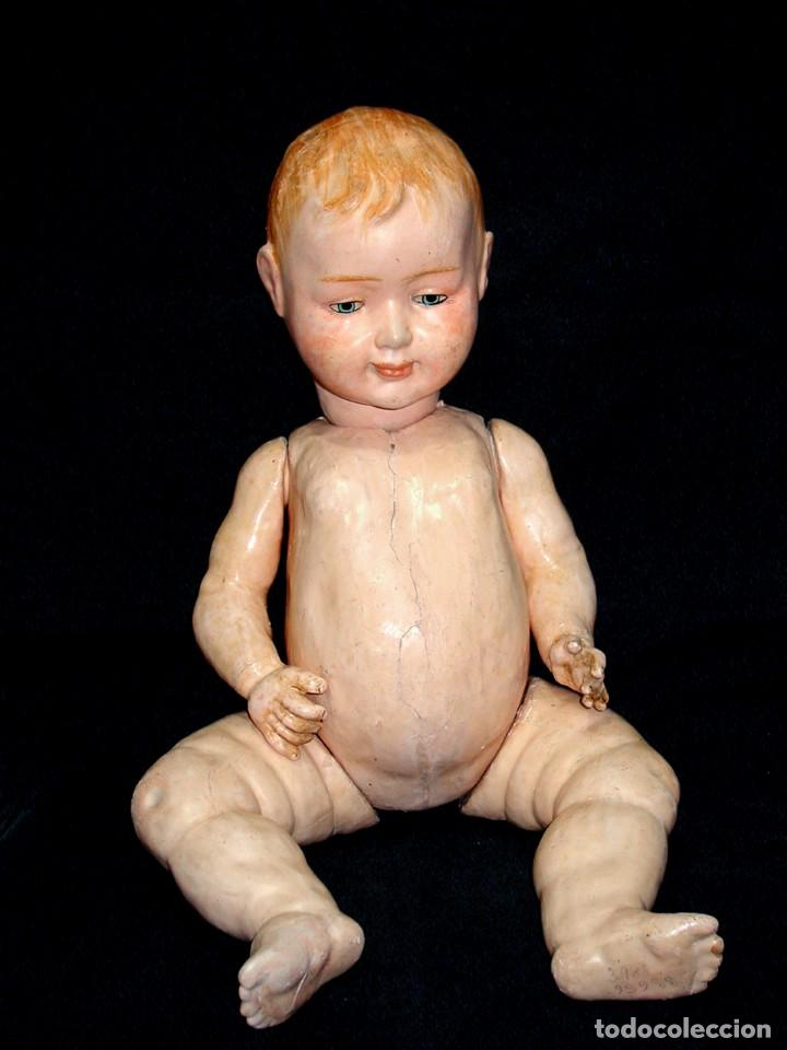 Klassische spanische Puppen: GRAN PEPON DE CARTON PIEDRA CATALÁN O VALENCIANO CON BABERO, GORRO, FALDÓN Y PANTALÓN. PPIO 1900 - Foto 13 - 150443726