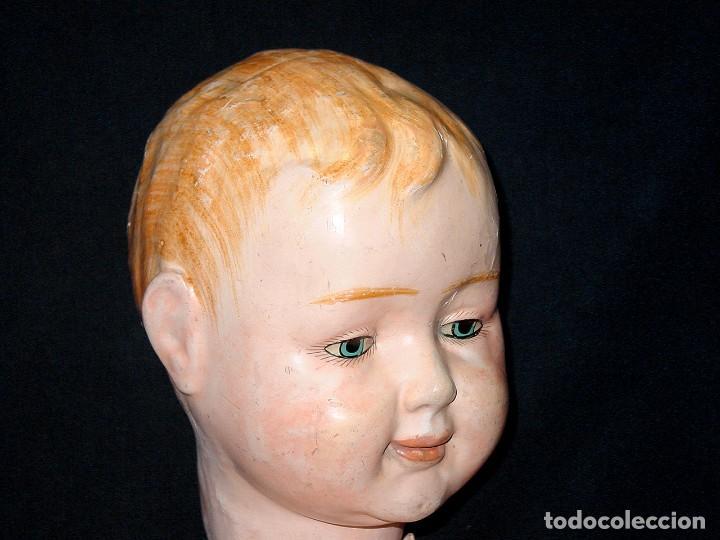 Klassische spanische Puppen: GRAN PEPON DE CARTON PIEDRA CATALÁN O VALENCIANO CON BABERO, GORRO, FALDÓN Y PANTALÓN. PPIO 1900 - Foto 17 - 150443726