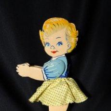 Muñeca española clasica: MUÑECA ARTICULADA MOVIL EN MADERA .DENIA, AÑOS 1950. Lote 150712946