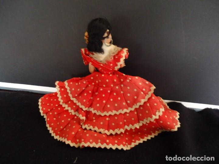 Muñeca española clasica: ANTIGUA MUÑECA DE PLASTICO DURO Y OJOS DURMIENTES VESTIDA DE FLAMENCA - Foto 7 - 150738450