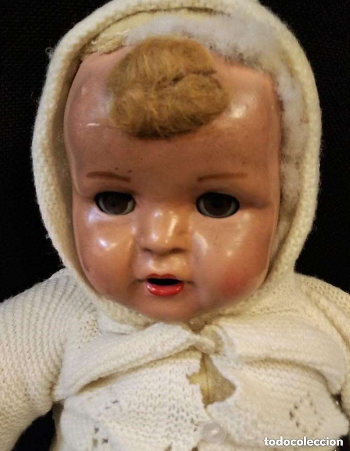 Muñeca española clasica: Bonito muñecos con cara y manos de cartón piedra, cuerpo de relleno. Cartón piedra, ojo durmiente - Foto 2 - 150794122