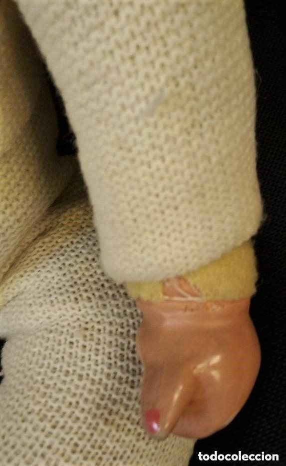 Muñeca española clasica: Bonito muñecos con cara y manos de cartón piedra, cuerpo de relleno. Cartón piedra, ojo durmiente - Foto 4 - 150794122